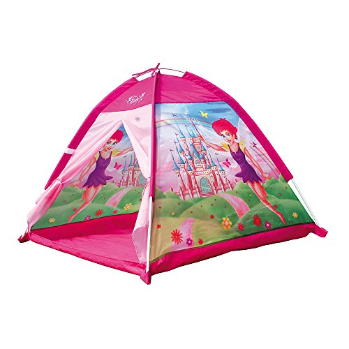 Bino 82812 Pink Gilrs Fairy Princess Gazebo Outdoor and Indoor Playtime, 100% PES. The Tent is Suitable for Children from 36 Months. Size 112 x 112 x 94 cm
