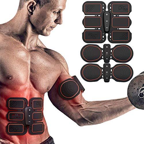 ABS Allenatore, EMS Addominali Elettrostimolatore, Cintura Di Tonificazione Addominale, ABS Stimolatore, EMS Elettrostimolatore Muscolare, Elettrostimolatore Per Addominali, EMS Stimolatore Muscolare