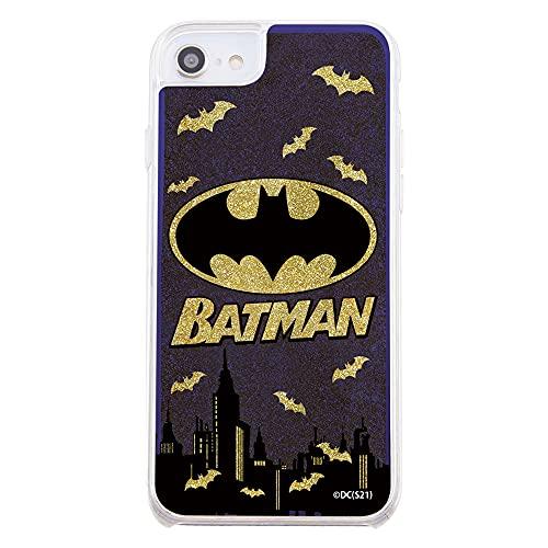 iPhone SE(第2世代) / 8 / 7 / 6s / 6 / 『バットマン』/ラメ グリッターケース/バットマンロゴ