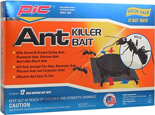 PIC PLAS-Bon Ant Bait Traps, Black
