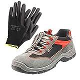 Calzado de seguridad para hombreYATO| calzado de trabajo | zapatos de construcción de hombre anti-pinchazos profesionales impermeables