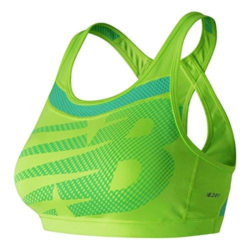 New Balance Damen Pulse Sport-BH, Lime, XS (65BC-70B)