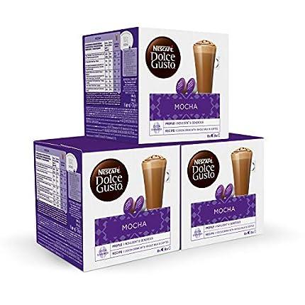 Nescafé DOLCE GUSTO Café MOCHA - Pack de 3 x 16 cápsulas - Total: 48 Cápsulas
