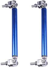 cciyu 2PCS Adjustable Blue Front Lip Rod Bumper Lip Splitter Tie Rod Bars 3.94-9 Inch