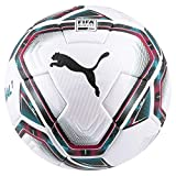 PUMA teamFINAL 21.1 FIFA Quality Pro Ball Balón de Fútbol, Unisex-Adult, White-Rose Red-Ocean Depths Black-Omphalodes, 5