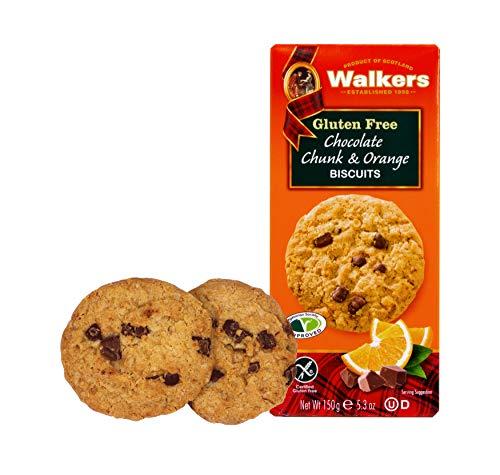 Walkers Shortbread Gluten Free Chocolate Chunk & Orange Cookies, 5.3 Ounce Box (Pack of 6)