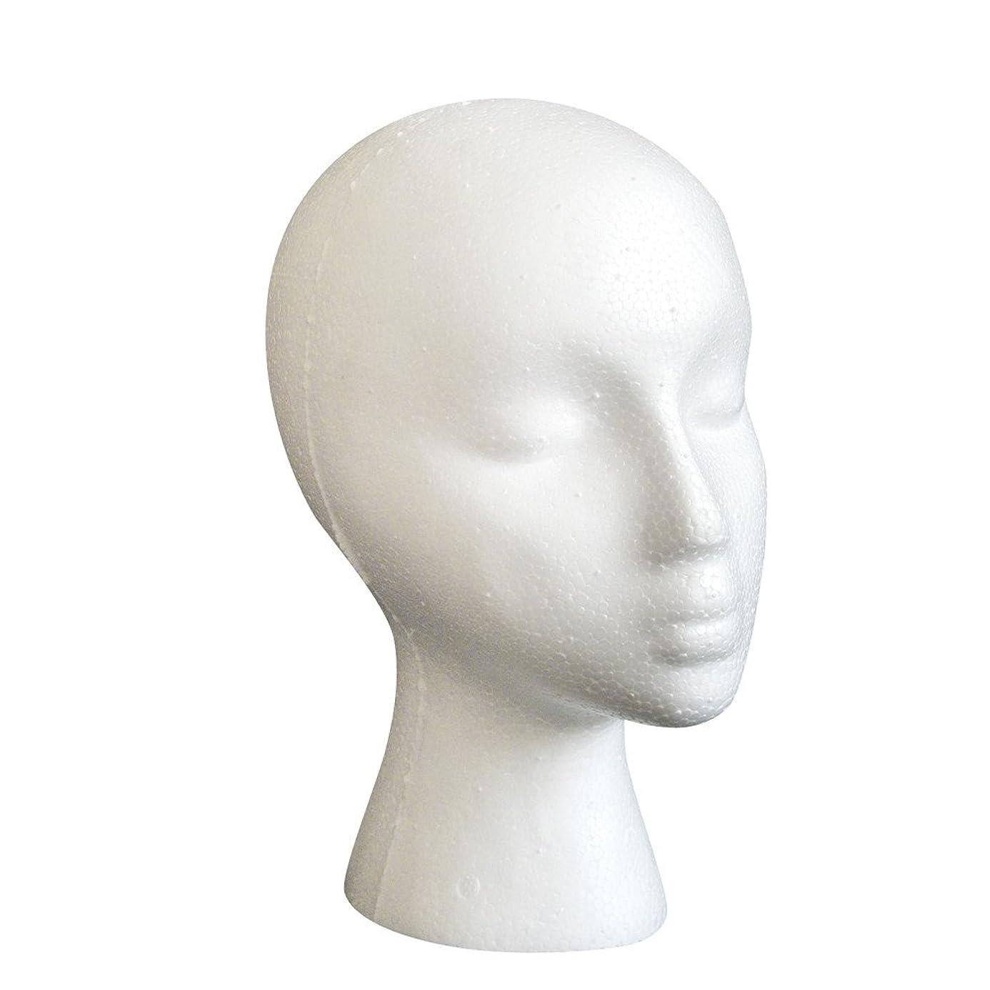 Muranba 2019 ! Styrofoam Foam Mannequin Female Head Model Dummy Wig Glasses Hat Display Stand Black