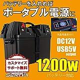 SEKIYA ポータブル電源 12V DC USB 出力 付 バッテリー ボックス NINABOX バッテリーをいれると1200W家庭用ポータブル電源に 大容量 オフグリッド