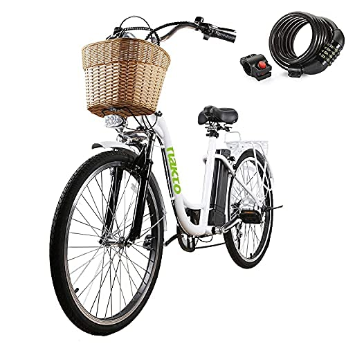 NAKTO Electric Bike 26' Electric Bicycle for Adults 250W Brushless...