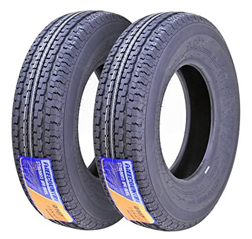 Set of 2 Premium FREE COUNTRY Trailer Tires ST185/80R13 8PR/Load Range D w/Scuff Guard