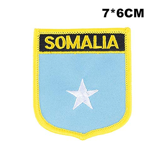 Somalië Vlag naaien op patches borduurwerk patches pailletten ijzer op patches voor kleding diy kleding decoratie PT0170-S