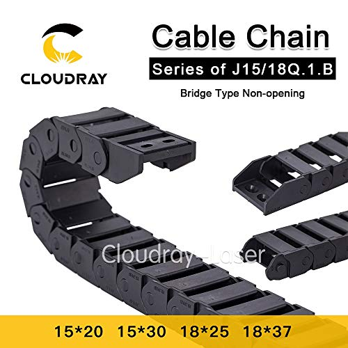 Cable Chains 15x20 15x30 18x25 18x37 mm Bridge Type Non-Opening Plastic Towline Transmission Drag Chain for Machine (15x20 mm - 100mm)