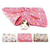 BWOGUE Guinea Pig Blanket, 3 Pack Small Animal Soft Warm Pet Fleece Blankets Sleep Mat Pad Cover Flannel Throw for Hamster Guinea Pig Rabbit Dog Cat Chinchilla Hedgehog