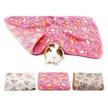 BWOGUE Guinea Pig Blanket 3 Pack Small Animal Soft Warm Pet Fleece Blankets Sleep Mat Pad Cover Flannel Throw for Hamster Guinea Pig Rabbit Dog Cat Chinchilla Hedgehog