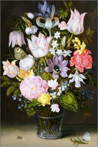 Posterlounge Acrylglasbild 20 x 30 cm: Stillleben mit Blumen von Ambrosius Bosschaert/Bridgeman Images - Wandbild, Acryl Glasbild, Druck auf Acryl Glas Bild