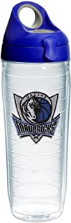 Tervis NBA Dallas Mavericks Tumbler with Emblem and Blue with Gray Lid 24oz Water Bottle, Clear