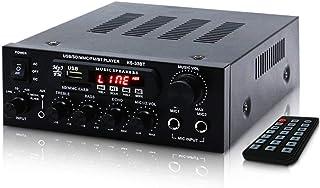 MIFO デジタルアンプ オーディオアンプ 最大出力150W(50W+50W)Bluetooth4.0 USBメモリ SDカード Hifi ステレオ デュアルマイク端子付き 6.5mm リモコン付 ハイパワー 高音質 カラオケアンプ