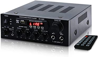 MIFO デジタルアンプ オーディオアンプ 最大出力150W(50W+50W)Bluetooth4.0 USBメモリ SDカード Hifi ステレオ デュアルマイク端子付き 6.5mm リモコン付 ハイパワー カラオケアンプ