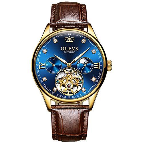 Herenhorloge Mode Analoge Quartz Mens Horloges Voor Mannen Lederen Band Business Sport Design Waterdicht Luxury Horloge,Rose blue