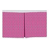 Bacati - Mix N Match Pin Dots Crib/Toddler Bed Skirt (Fuschia)