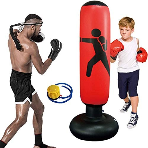 Punching Bag Inflatable Punching Bag on Foot for Kids Adult Freestanding Boxing Fitness Tumbler product image