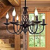 Luz pendiente antiguo, rústico pendiente clásico de la vela de la lámpara del estilo de país...