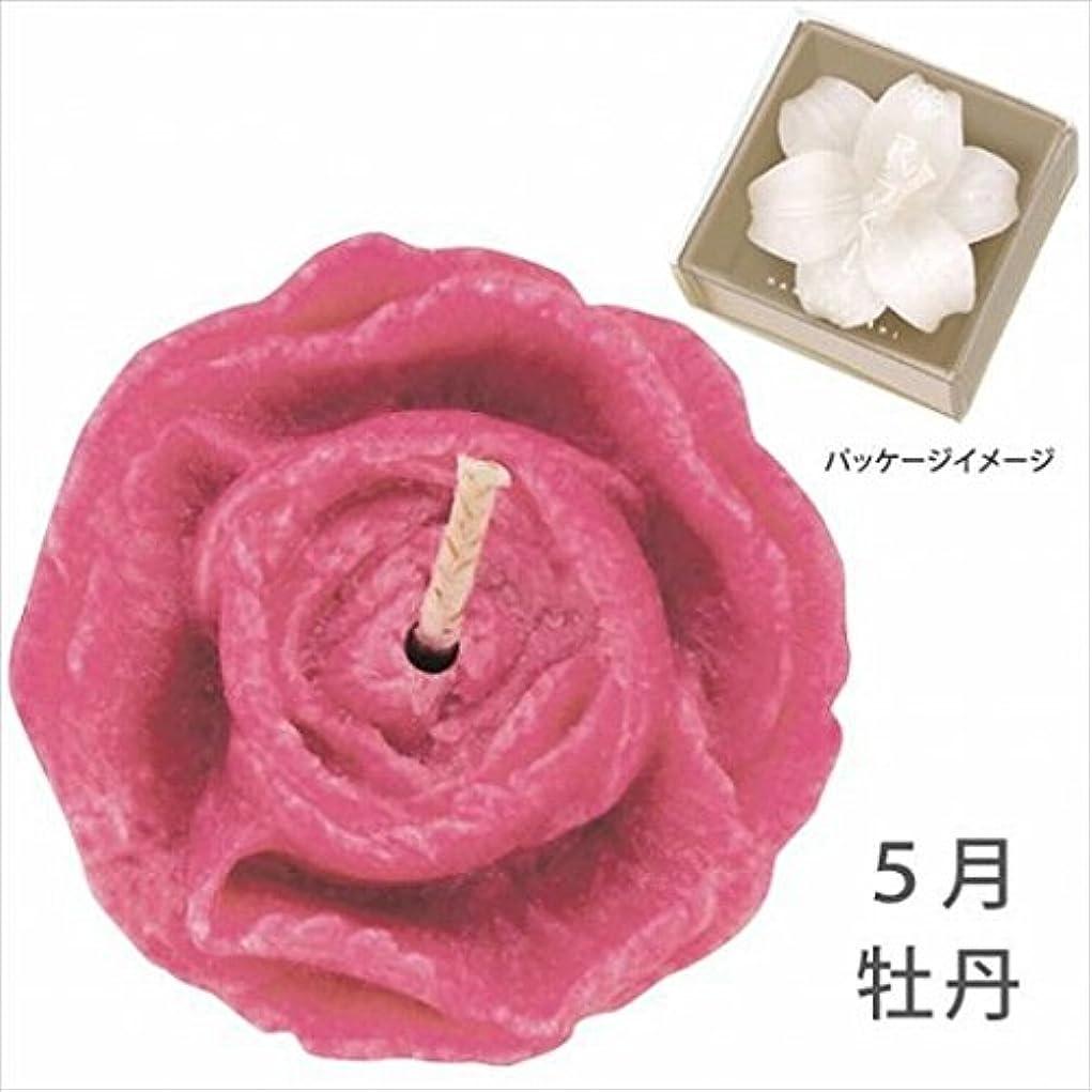 救急車ニックネーム制限するカメヤマキャンドル(kameyama candle) 花づくし(植物性) 牡丹 「 牡丹(5月) 」 キャンドル