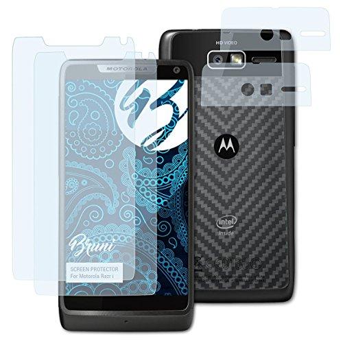Preisvergleich Produktbild Bruni Schutzfolie kompatibel mit Motorola Razr i Folie,  glasklare Displayschutzfolie (2er Set)