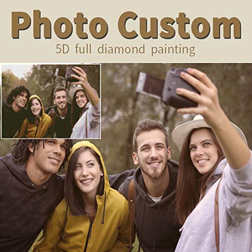 Pintura de diamante personalizada foto personalizada 5D Kits de pintura de diamante...