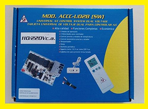 Tarjeta Electrónica Universal 110/220 VAC Para Aire Acondicionado, Minisplit, Ventana O Pisotecho. Compatible Con Todas Las Marcas