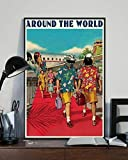 Daft Punk Around The World Portrait Paper Poster No Frame (24 X 36)