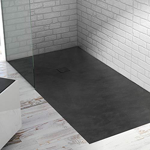Piatto doccia ultraslim mod. base Beton 80x100 (negro)