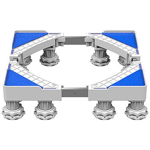 QINGMM Socle Lave Linge, Base réglable Mobile multifonctionnelle, Support d'appareils ménagers avec Support télescopique pour Machine à Laver, sèche-Linge et réfrigérateur,E