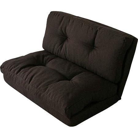 アイリスプラザ ソファ ベッド 座椅子 3WAY 折り畳み 2人掛け ブラウン 幅約90cm CG-4Aー90-FAB