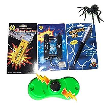 Leeche Shocking Kit,Prank Stuff Kit,Shocking Gum Packs ,Shocking Pen ,Prank Toys,Finger Trap Practical Joke Trick Toy Gift  5 Pack