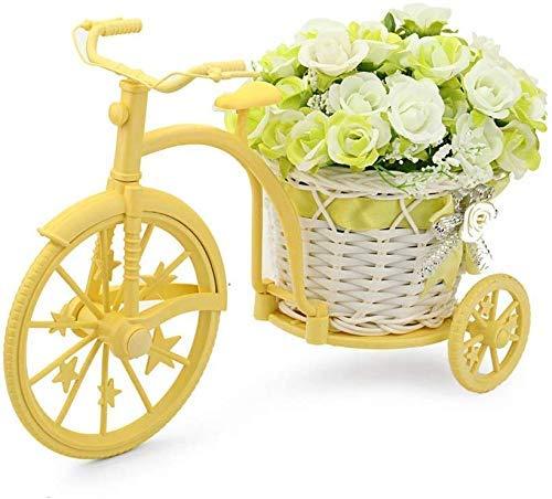 Wghz Mini Soporte de Flores Bicicleta decoración de Flores Artificiales jardín nostálgico pequeño Soporte de Plantas Decoraciones de Boda Soporte de exhibición de Flores Soportes de Plantas