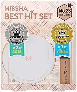 MISSHA(ミシャ) クッションファンデ(モイスチャー)+ザ コンシーラー BEST HIT セット No.23自然な肌色 ファンデーション 15g+6g