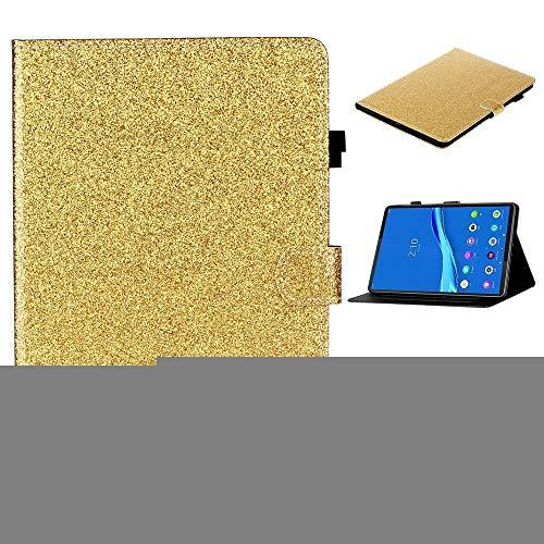 PHONETABLETCASE+ / para Lenovo Tab M10 Plus TB-X606F Glissy Glitter Powder Horizontal Flip Funda de Cuero con Soporte y Ranura para Tarjeta y función de suspensión/Despertador,Protección de la cubi