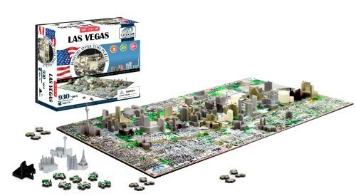 4D Las Vegas Skyline Time Puzzle by 4D Cityscape Toy (Englis
