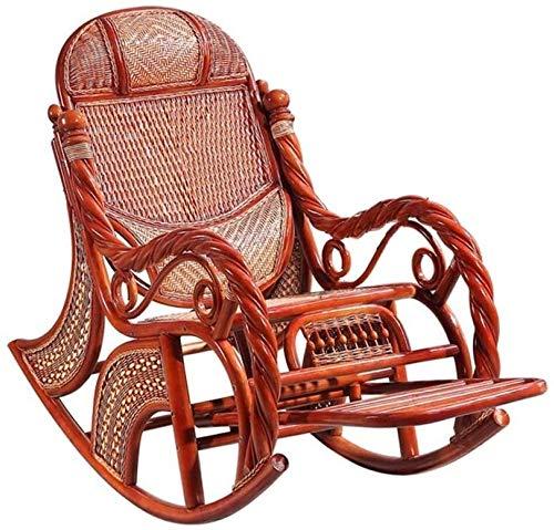 Muebles para el Hogar Silla cómoda meditación Rattan Patio Porche Silla balancín soporta hasta...