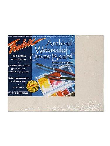 Fredrix Archival Watercolor Canvas Board 8 in. x 10 in. each [PACK OF 3 ]