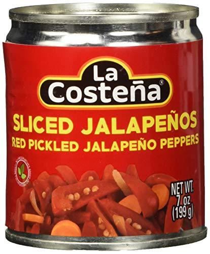 La Costena Jalapeno rot Streifen | 199gr | Mexikanische Küche | mittlere Schärfe | Perfekt zu Vorspeisen, Salaten & Tortillas | Hervorragender Geschmack