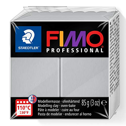 Staedtler Fimo professional Individual Standard Blocks 85g, Dolphin Grey, 85 g