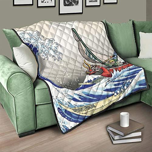 Caixiabeauty Colcha de Zelda japonesa con ondas, para sofá o cama, color blanco, 230 x 280 cm