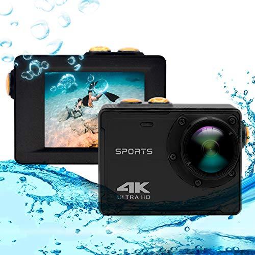 4K Action Camera, Vmotal GSV8580 WiFi Ultra HD 16MP Action Camera impermeabile con obiettivo grandangolare da 150 gradi, schermo LCD da 2,0 pollici Videocamera sportiva subacquea