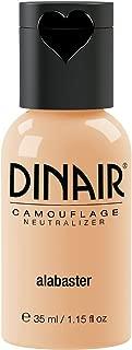 Dinair Airbrush Makeup Foundation   Alabaster 1.15 oz   Camouflage Neutralizer - Covers Scars, Acne, Tattoos, Vitiligo, Under Eye circles, Sun Spots