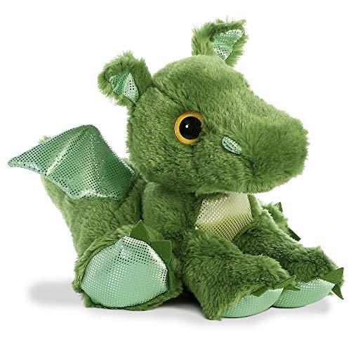 Aurora, 61033, Sparkle Tales, Drago Ruggito, 30 cm, peluche verde