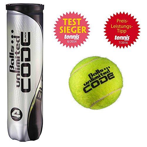 Balls ... unlimited Code Black Tennisbälle - 18 x 4er Dose (72 Tennisbälle) - ITF Approved