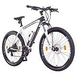NCM Prague Bicicletta elettrica Mountainbike, 250W, Batteria 36V 13Ah 468Wh (27,5 Bianco)