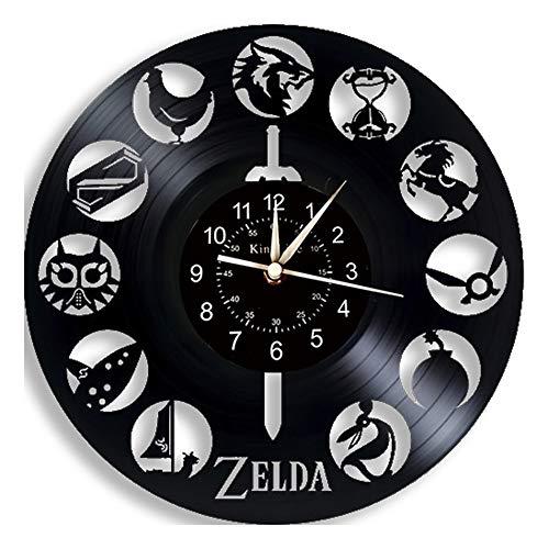 Cheemy Joint Reloj de Disco de Vinilo The Legend of Zelda - Reloj de Pared The Legend of Zelda - Decoración Original de Pared para el hogar: Regalos creativos para Adolescentes y niños.